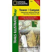 National Geographic Wandelkaart 304 Yellowstone Northeast