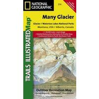 National Geographic Wandelkaart 314 Many Glacier NP
