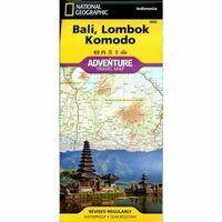 National Geographic Wegenkaart Bali Lombok Komodo