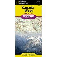 National Geographic Wegenkaart Canada West Adventure Map