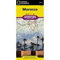 National Geographic Wegenkaart Adventure Map Marokko