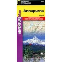 National Geographic Wandelkaart Annapurna Adventure Map