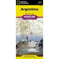National Geographic Wegenkaart Argentinië Adventure Map