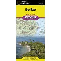 National Geographic Wegenkaart Belize Adventure Map