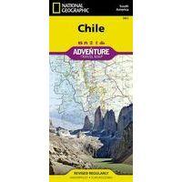 National Geographic Wegenkaart Chili Adventure Map