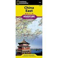 National Geographic Wegenkaart China Oost Adventure Map