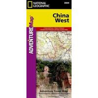 National Geographic Wegenkaart China West Adventure Map