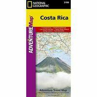 National Geographic Wegenkaart Costa Rica