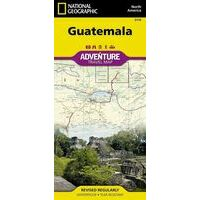 National Geographic Wegenkaart Guatemala
