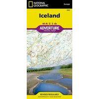 National Geographic Wegenkaart IJsland Adventure Map