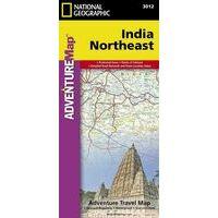 National Geographic Wegenkaart India Noordoost