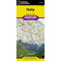 National Geographic Wegenkaart Italië Adventure Map