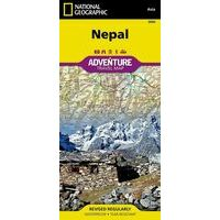 National Geographic Wegenkaart Nepal Adventure Map