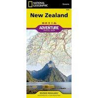 National Geographic Wegenkaart Nieuw-Zeeland