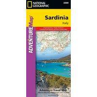 National Geographic Wegenkaart Sardinië Adventure Map