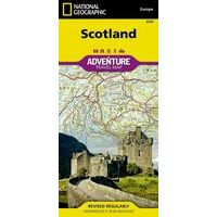 National Geographic Wegenkaart Schotland Adventure Map