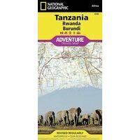 National Geographic Tanzania, Rwanda, Burundi Adventure Map