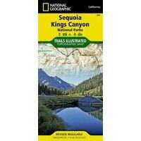 National Geographic Wandelkaar 205 Sequoia - Kings Canyon NP