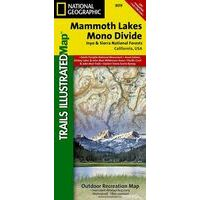 National Geographic Wandelkaart 809 Mammoth Lakes - Mono Divide