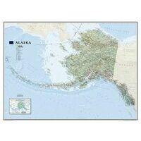 National Geographic Wandkaart Alaska