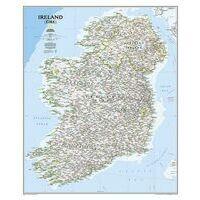 National Geographic Wandkaart Ierland