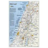National Geographic Wandkaart Israël Holy Land