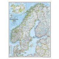 National Geographic Wandkaart Scandinavië