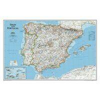 National Geographic Wandkaart Spanje En Portugal