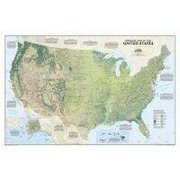 National Geographic Wandkaart USA Fysisch 1:5.657.000