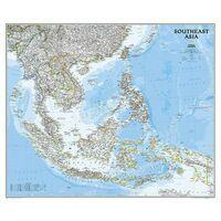 National Geographic Wandkaart Zuidoost Azië