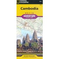 National Geographic Wegenkaart Cambodja Adventure Map