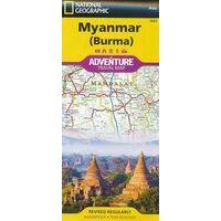 National Geographic Wegenkaart Myanmar Adventure Map