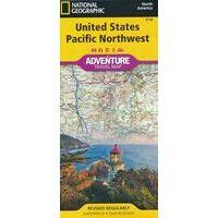 National Geographic Wegenkaart USA Pacific Northwest Adventure Map
