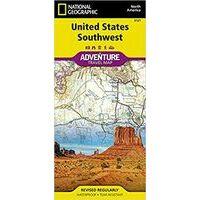 National Geographic Wegenkaart USA Southwest