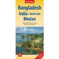 Nelles Wegenkaart Bangladesh - India Noordoost