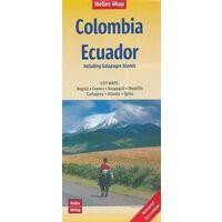 Nelles Wegenkaart Colombia & Ecuador