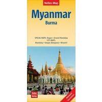 Nelles Wegenkaart Myanmar (Burma)