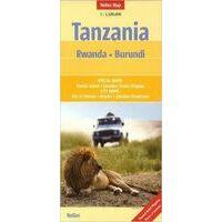 Nelles Wegenkaart Tanzania, Rwanda & Burundi 1:1.500.000