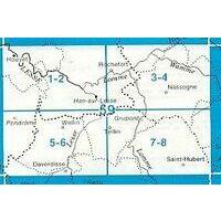NGIB Topografische Kaart 59/1-2 Houyet - Han Sur Lesse