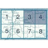 NGIB Topografische Kaart 49/3-4 Aywaille-Spa-Theux