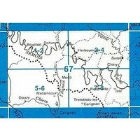 NGIB Topografische Kaart 67/7-8 Florenville - Chiny