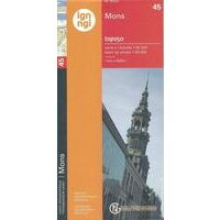 NGIB Topografische Kaart 45 Bergen - Mons