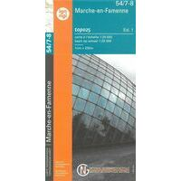 NGIB Topografische Kaart 54-7/8 Marche-en-Famenne