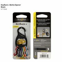 Nite Ize Keyrack 6 S-Biners + Bottleopener Black