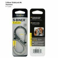 Nite Ize S-Biner #4 Slidelock Stainless Steel