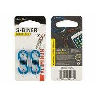 Nite Ize S-Biner Microlock Aluminium Twee Stuks