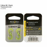 Nite Ize S-Biner #0 Plastic Lime Twee Stuks