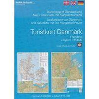 Nordisk Toeristische Kaart Denemarken + Margrietenroute