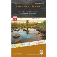 Norstedts Zweden Outdoormap 04 Kvikkjokk - Jäkkvikk