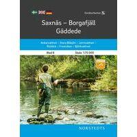 Norstedts Zweden Outdoormap 08 Saxnäs - Borgafjäll